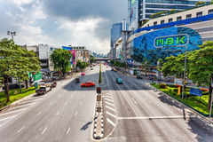 Free way on one of street of Bangkok Stock Photography