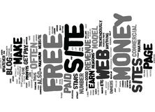 Free Web Page To Make Money Text Background  Word Cloud Concept Royalty Free Stock Image