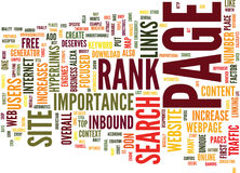 Free Web Traffic Through Page Rank Word Cloud Concept Royalty Free Stock Photo