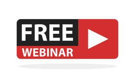 Free webinar play online button illustration.  royalty free illustration