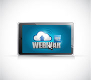 free webinar tablet electronics illustration Royalty Free Stock Photography