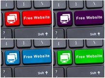 Free website button on laptop keyboard Stock Images
