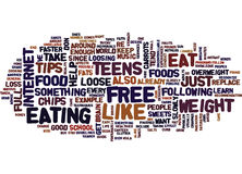 Free Weight Loss For Teen Text Background  Word Cloud Concept Royalty Free Stock Images