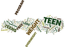 Free Weight Loss For Teens Safe And It Works Word Cloud Concept Stock Images