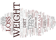 Free Weight Loss For Teens Word Cloud Concept Royalty Free Stock Photography