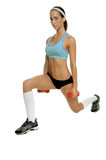 Free Weight Lunges Stock Photography
