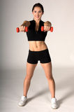 Free Weight Work Out Royalty Free Stock Photos