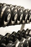 Free weights Royalty Free Stock Images