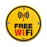 Free wi fi circle sign Royalty Free Stock Photo