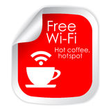 Free wi-fi Stock Photography