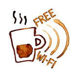 Free Wi-Fi sign Royalty Free Stock Images