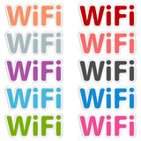 Free wi-fi vector label Stock Photography