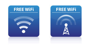 Free wifi buttons Royalty Free Stock Images