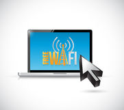Free wifi computer sign illustration design Stock Photo