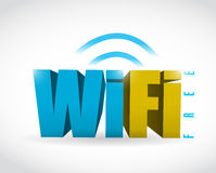 Free wifi connection illustration design Stock Photography