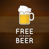 Free wifi and great beer Stock Images