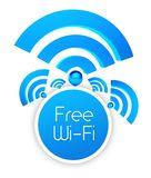Free wifi icon, isolated white Royalty Free Stock Image