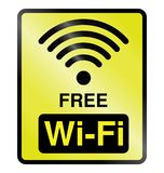 Free WiFi Information Sign Royalty Free Stock Photography