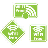 Free wifi and Internet sign. With square border Stock Photos