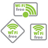 Free wifi and Internet sign. With square border Royalty Free Stock Photography