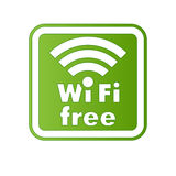 Free wifi and Internet sign. With square border Stock Image