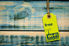 Free WiFi notice royalty free stock photography
