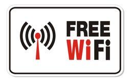 Free wifi rectangle sign Stock Photos