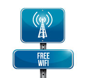 Free wifi road sign illustration design Stock Photography
