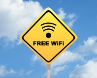 Free WiFi sign Stock Photography