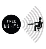 Free WiFi Sign Stock Image