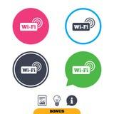 Free wifi sign. Wifi symbol. Wireless Network. Royalty Free Stock Image