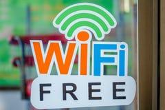 Free wifi sing Stock Image