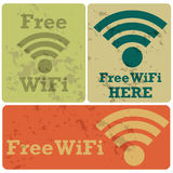 Free wifi stickers Stock Photos