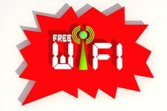 Free Wifi. Symbol of Free wifi royalty free illustration
