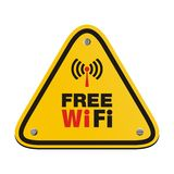 Free wifi triangle sign Royalty Free Stock Image