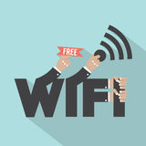 Free Wifi Typography Design. Stock Images