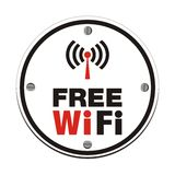 Free wifi - white circle Stock Images