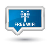 Free wifi (wlan network) prime blue banner button Royalty Free Stock Images