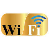 Free wifi zone. Wifi  zone  area  icon  illustration  internet  network  sign  signal  symbol Royalty Free Stock Images