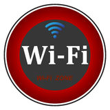 Free wifi zone. Wifi  zone  area  icon  illustration  internet  network  sign  signal  symbol Stock Photography