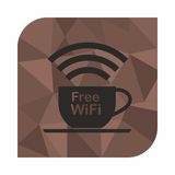 Free wifi zone, icon concept for cafe or coffee shop Stock Photography