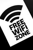 Free WiFi zone Royalty Free Stock Photography