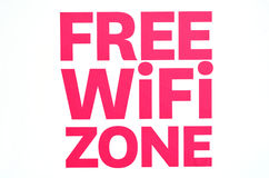 Free WiFi zone Royalty Free Stock Image