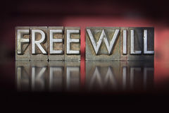 Free Will Letterpress Royalty Free Stock Photos