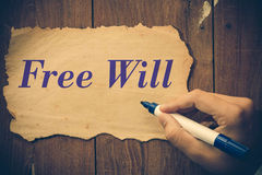 Free will Stock Image