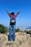 Free woman hiker Stock Photos