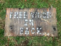 Free wood sign Royalty Free Stock Photography