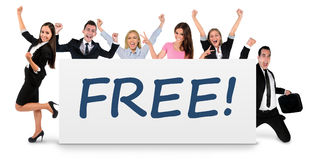 Free word on banner Royalty Free Stock Image