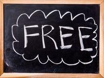Free word on blackboard Royalty Free Stock Photos