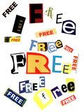 Free Word Collage Texture Royalty Free Stock Photos